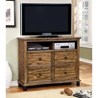 Furniture of America Donno Industrial Dark Oak 4-drawer Media Chest