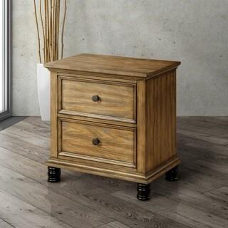 Furniture of America Donno Industrial Dark Oak 2-drawer Nightstand