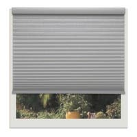 Linen Avenue Platinum Grey 52-inch to 53-inch Wide Light FIltering Custom Cordless Cellular Shade