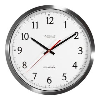 La Crosse Technology Stainless Steel UltrAtomic Analog Wall Clock
