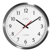 La Crosse Technology 404-1235UA-SS 14 Inch UltrAtomic Stainless Steel Analog Wall Clock