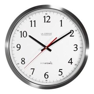 La Crosse Technology 404-1235UA-SS 14 Inch UltrAtomic Stainless Steel Analog Wall Clock