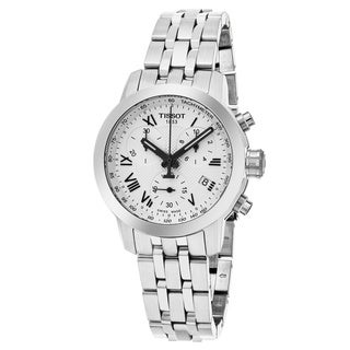 Tissot Women's T055.217.11.033.00 'PRC 200' Silver Dial Stainless Steel Chronograph Swiss Quartz Watch