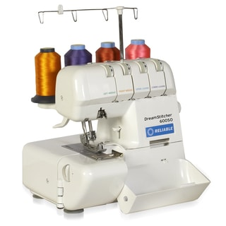 Reliable DreamStitcher 600SO Serger White Metal/Plastic Portable Sewing Machine