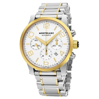 Mont Blanc Men's 107320 'Timewalker' Silver Dial Stainless Steel 18k Gold Chronograph Swiss Automatic Watch