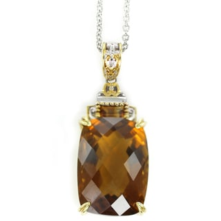 One-of-a-kind Michael Valitutti Madeira Citrine Check Top Pendant