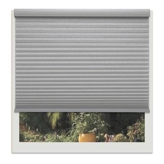 Linen Avenue Platinum Grey Custom 56- to 57-inch Wide Light-filtering Cellular Shade