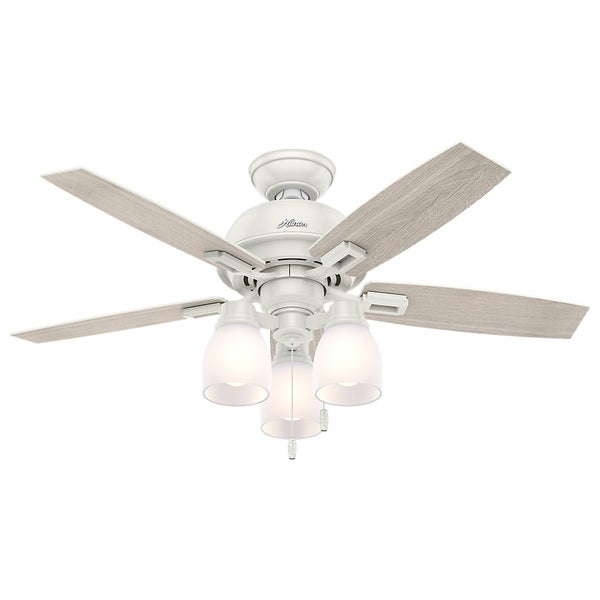 Hunter Fan Donegan Collection Fresh White 44 Inch Ceiling