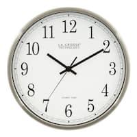 La Crosse Technology WT-3126B 12 In. Stainless Steel Atomic Wall Clock