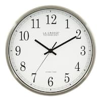 La Crosse Technology WT-3126B 12 In. Stainless Steel Atomic Analog Wall Clock