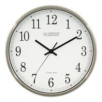 La Crosse Technology WT-3126B 12 In. Stainless Steel Atomic Wall Clock