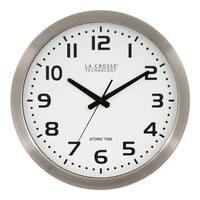 La Crosse Technology WT-3161WH Metal 16 In. Analog Atomic Clock