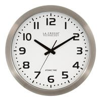 La Crosse Technology WT-3161WH Metal 16 In. Analog Atomic Clock