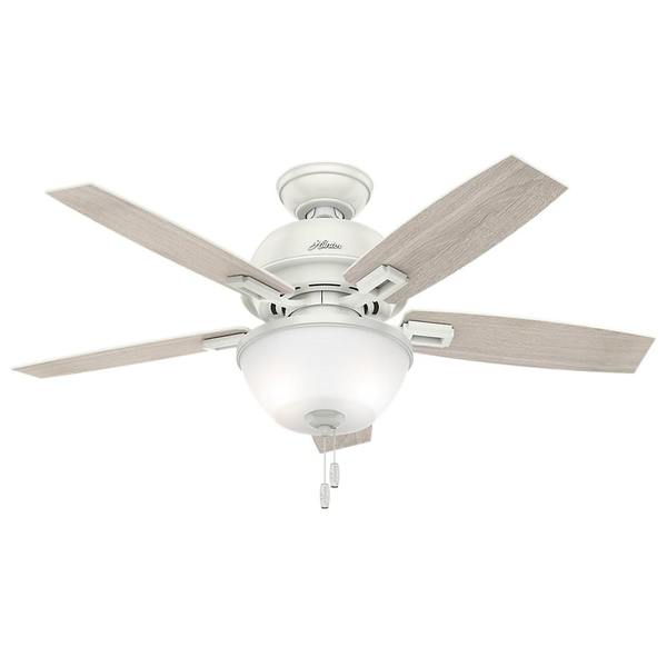 Hunter Fan Donegan Collection Fresh White Light Grey 44