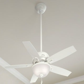 Hunter Fan Donegan Collection Fresh White/Light Grey 44-inch 5 Reversible Blades Ceiling Fan