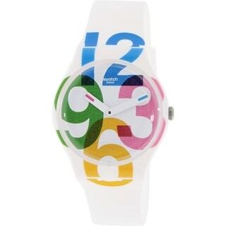 Swatch Women's Originals White Silicone Swiss Quartz Watch