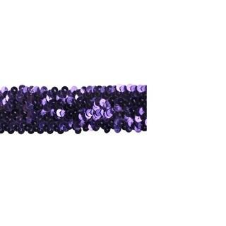 Purple 1 1/2-inch Wide Stretch Sequin Trim (10-yard reel)