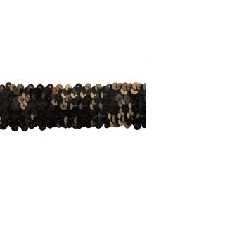 1 1/2-inch Brown Sequin Trim