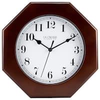 La Crosse Wood 9.5-inch Octagon Wall Clock