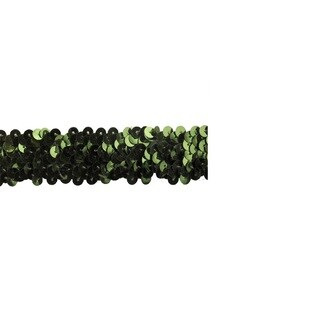 1-inch Emerald Green Sequin Trim