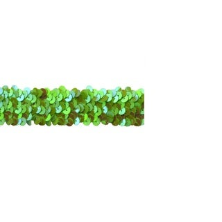 Lime Green 10-yard x 1-inch Stretch Sequin Trim