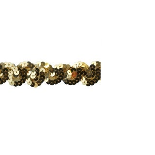 1-inch Gold Sequin Trim