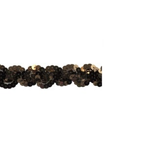 Brown 1-inch Nonstretch Sequin Trim