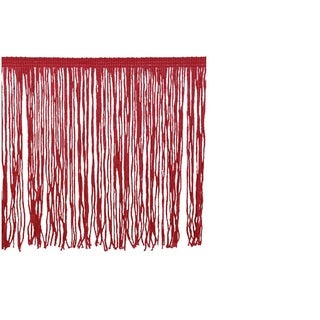 Red Polyester 10-yard 6-inch Chainette Fringe Trim Reel