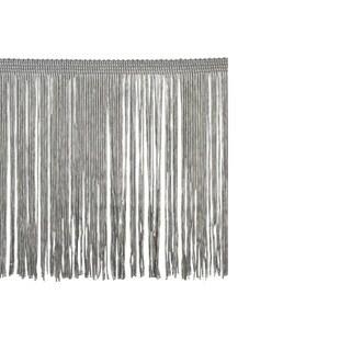Grey Polyester 10-yard x 6-inch Chainette Fringe