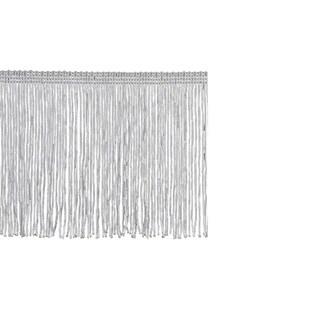 Grey Polyester 10-yard x 4-inch Chainette Fringe Trim