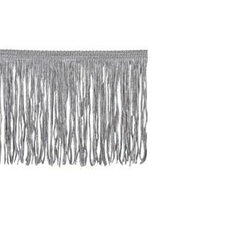 Grey Polyester 4-inch Chainette Fringe Trim