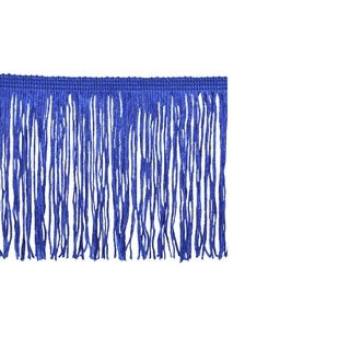 Blue Polyester 10-yard x 4-inch Chainette Fringe Trim