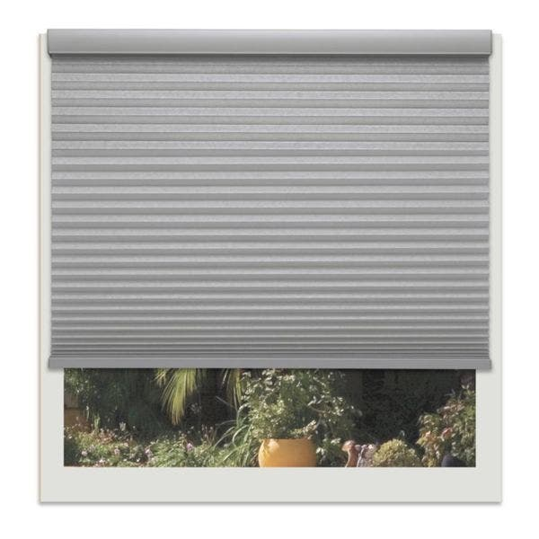 Linen Avenue Platinum 66 To 67 Inches Wide Custom Cordless Platinum Light Filtering Cellular Shade Overstock 12484134