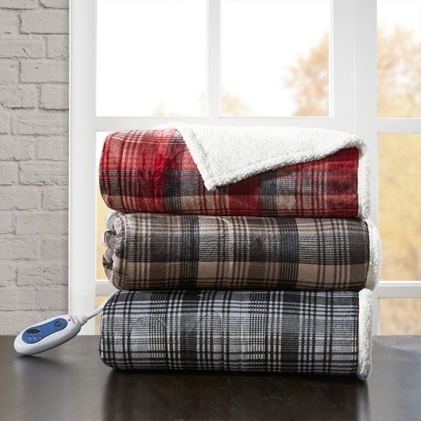 """Woolrich Tasha Oversized to Berber Heated Throw 3-Color Options - 60x70"""""""