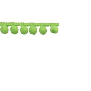 Green Polyester 10-yard x 1-inch Pom-pom Trim