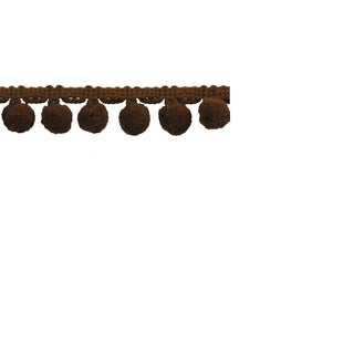 Brown Polyester 10-yard x 1-inch Pom-pom Trim