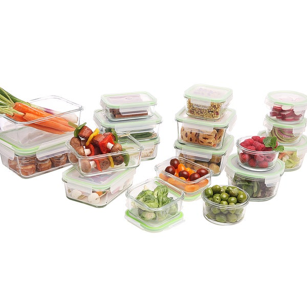 Kinetic GoGreen Glassworks 36 Piece Oven Safe Glass Food Storage Container  Set With Lids   Free Shipping Today   Overstock.com   19294836