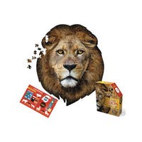 Madd Capp Puzzles I AM Lion 550-piece Jigsaw Puzzle - Brown/Red