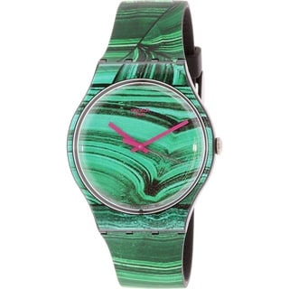 Swatch Women's Originals SUOB122 Green Silicone Swiss Quartz Watch