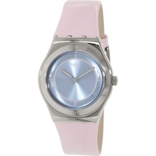 Swatch Women's Irony YLS182 Pink Leather Quartz Watch