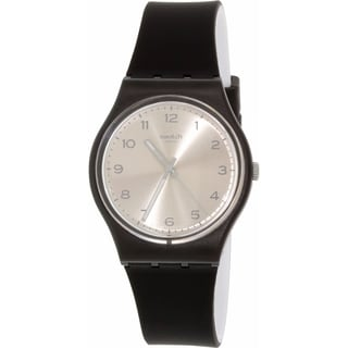 Swatch Women's Originals GB287 Black Rubber Quartz Watch