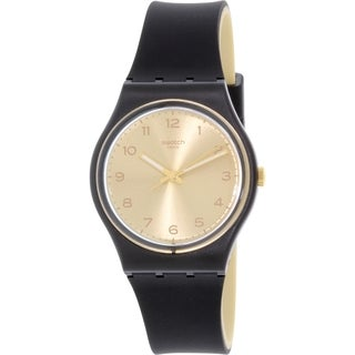 Swatch Women's Originals GB288 Black Rubber Quartz Watch
