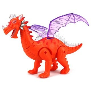 Velocity Toys Dinosaur World Winged Plastic Dragon Walking Toy Dinosaur (Colors May Vary)