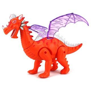 Velocity Toys Dinosaur World Winged Plastic Dragon Walking Toy Dinosaur (Colors May Vary)