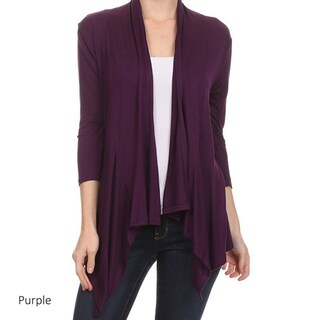 Women's Solid Rayon/Spandex Cardigan