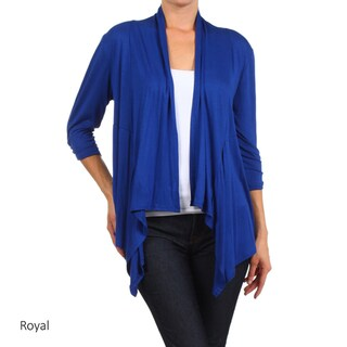 Women's Solid Rayon/Spandex Cardigan