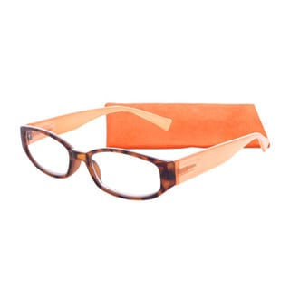 Icu Eyewear Square Tortoise And Creamsicle Reading Glasses