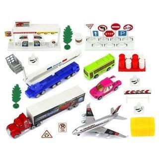 Velocity Toys Metal/Plastic Kid's Urban City Vehicle Playset