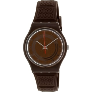 Swatch Women's Originals GC114 Brown Silicone Swiss Quartz Watch