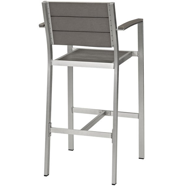 Beach Outdoor Aluminum Patio Bar Stool Free Shipping